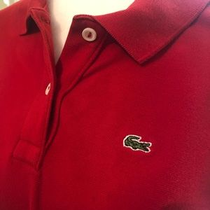 Deep Red Lacoste Shirt
